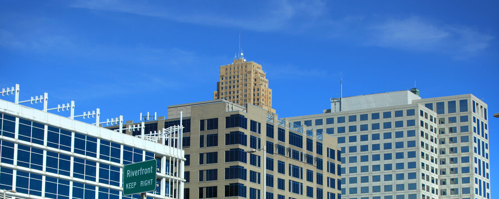 Picture of tall office buildings