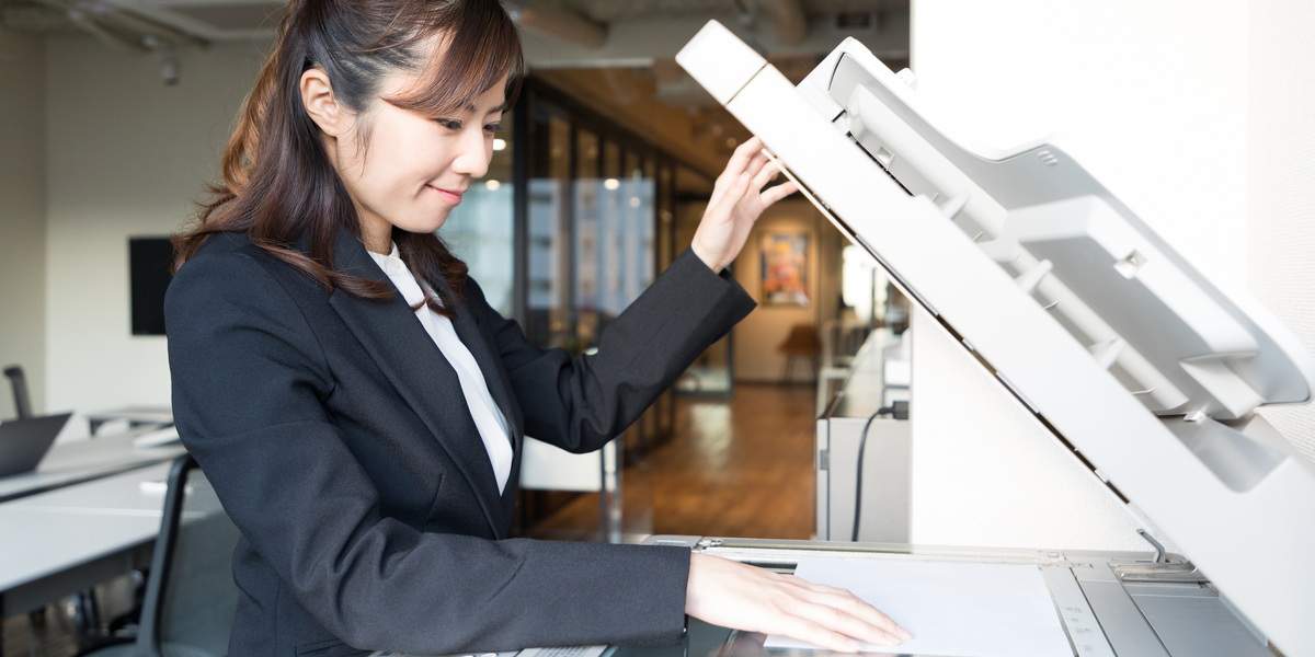 multifunction printer in use